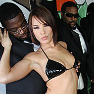 Busty Dana DeArmond gets bukkaked by eight black gangstas from Bro Bang