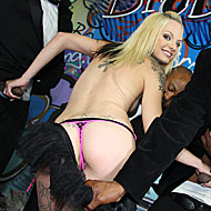 Smoking hot punk Faye Runaway gets bukkaked by ten blacks from Bro Bang