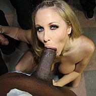 Busty MILF Julia Ann gets bukkaked by ten hung black men from Bro Bang