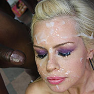 Tara Lynn Fox gets blowbanged and bukkaked by black dudes from Bro Bang