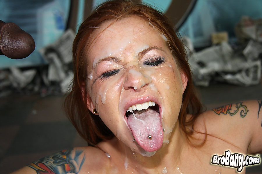 Crazy redhead gets tag teamed 2
